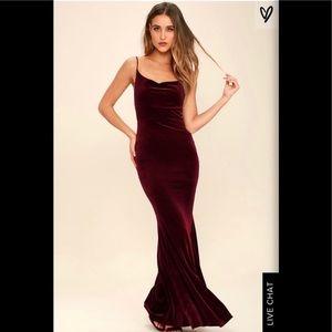 Red Velvet LuLu's Maxi Dress